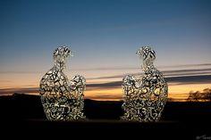 Jaume Plensa @ the Yorkshire Sculpture Park