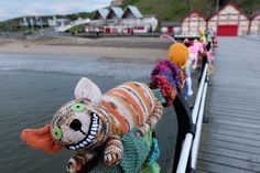 Saltburn yarnbombers strike again! New display celebrates Alice's Adventures In Wonderland - Gazette Live