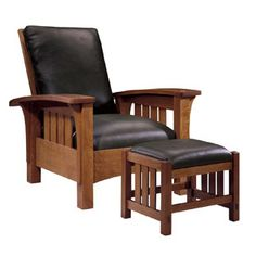 Mission furniture by Stickley... Or, that compressed particle wood junk from IKEA, if that's your preference.