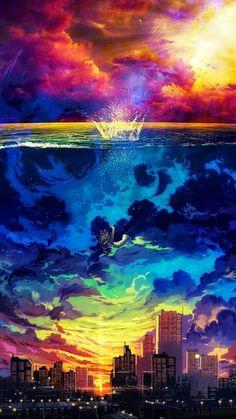 Anime scenery, i wallpaper, anime artwork, beautiful landscapes, art refere Anime Scenery Wallpaper, Wallpaper Space, Galaxy Wallpaper, Nature Wallpaper, Wallpaper Backgrounds, Iphone Wallpapers, Anime Artwork, Wallpaper For Cell Phone, Phone Backgrounds