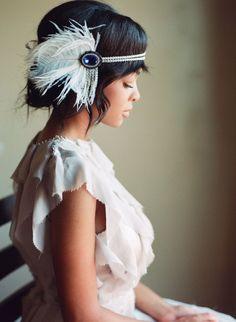 Casco de aleta Vintage inspirado peluca nupcial el gran por danani