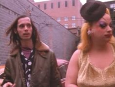 John Waters and Divine behind the scenes of #pinkflamingos