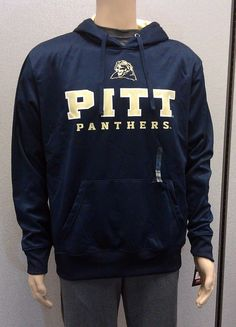 Pitt Panthers Hoodie NEW/NWT Campus Heritage LARGE Navy Blue & Gold $55R #CampusHeritage #PittPanthers
