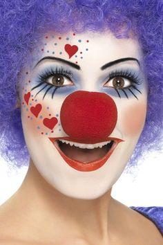 Nur für eine Minute und auch ohne passende Klamotten können Sie einen Karnevalskostüm schaffen.Hier finden Sie Anleitung für Clown schminken.