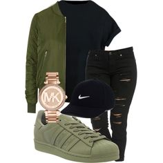 winter falls outfit by kingrabia on Polyvore featuring mode, Topshop, adidas, Michael Kors and NIKE