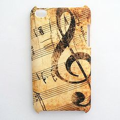 Music Notes Treble Clef Passport Holder Cover Wallet RFID Blocking Leather Card Case Travel Document Organizer