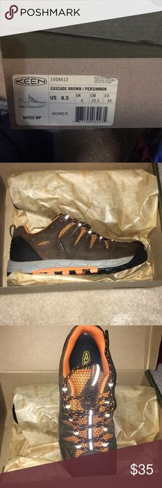 NEW IN THE BOX - Women's KEEN shoes - Size 8.5 NEW IN THE BOX - Women's KEEN shoes - Size 8.5, Style Bryce WP (waterproof).  Color Cascade Brown/Persimmon Keen Shoes