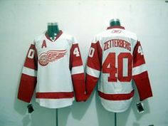 """Zetterberg #40 NHL Detroit Red Wings White Hockey Jersey Sz52 by osca. $59.50. Collar: 100% polyester flat knit rib. Body: 100% nylon diamondback mesh. The players' numbers and names are sewn on the backs. Our store offers different kinds of jerseys. they are of high quality and low price. """"Customers highest, reputation first """" is our principle. cheap NHL jerseys will also never let you down.  Body: 100% nylon diamondback mesh  Collar: 100% polyester flat knit ..."""