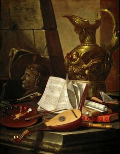 Cristoforo Munari (Monari; Italian, 1667- 1720) - Allegory of Arts