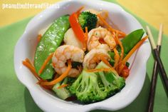 PEANUT BUTTER AND FITNESS: Shrimp Stir Fry