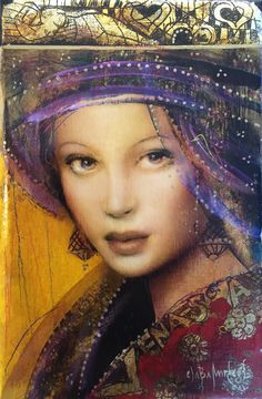 """""""Venasia"""" original oil painting by Csaba Markus Size: pretty small x """"The eyes are one of the most powerful tools a woman can have. Portrait Au Crayon, Portrait Art, Pics Art, Art Pictures, Woman Painting, Painting & Drawing, Modern Art, Contemporary Art, Beauty In Art"""