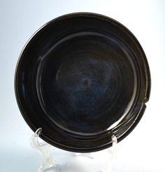Ceramic hand thrown yarn bowl with dark blue glaze by summerscrafts on Etsy Light In The Dark, Dark Blue, Yarn Bowl, Knit Or Crochet, Glaze, Pottery, Ceramics, Etsy, Enamel