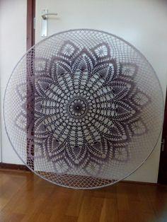 Dream Catcher Mandala, Dream Catcher Boho, Doily Patterns, Crochet Patterns, Crochet Doilies, Knit Crochet, Crochet Mandela, Crochet Wall Art, Crochet Dreamcatcher