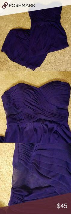 Strapless prom dress used once Purple strapless dress 17 Sundays Dresses Prom