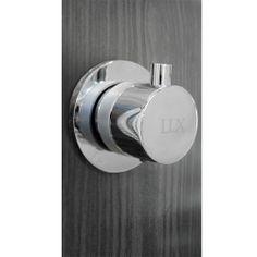 Multi-jet shower panel, Black and grey, LUX *** Colonne de douche multi-jets, Noir et gris, LUX