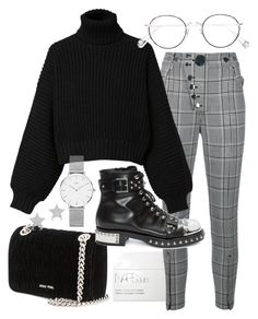 """Untitled #22384"" by florencia95 ❤ liked on Polyvore featuring Miu Miu, NARS Cosmetics, Alexander Wang, Diesel, Alexander McQueen, Ahlem, Daniel Wellington and Diamond Star"