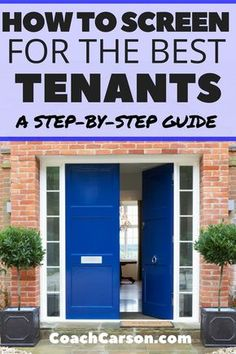 A step-by-step to pick the best tenants for your rental (and avoid the bad ones). If you own rental properties, you need to learn how to screen for the best tenants. This detailed, step-by-step guide from a pro shows exactly how to do it. Buying A Rental Property, Income Property, Investment Property, Renting Out Your House, Property Investor, Investment Tips, Investment Companies, Income Tax, Passive Income