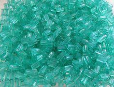 7x3.4mm Sol Gel Transparent Teal Czech Glass by beadsandbabble, $2.18