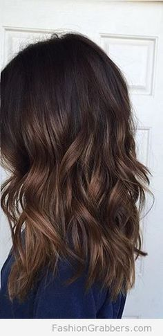 beautiful dark chocolate balayage for Fall! Check now