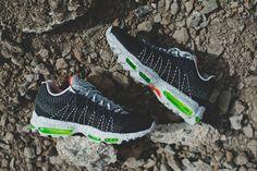 "Nike Air Max 95 Ultra Jacquard ""Crimson & Volt"" - EU Kicks: Sneaker Magazine"