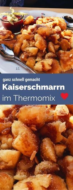 Kaiserschmarrn à la Sansibar im Thermomix & aus dem Ofen. Kaiserschmarrn à la Sansibar im Thermomix & aus dem Ofen. The post Kaiserschmarrn à la Sansibar im Thermomix & aus dem Ofen. appeared first on Farina Page. Best Pancake Recipe, Sweet Recipes, Healthy Recipes, Thermomix Desserts, Thermomix Pancakes, Oven Pancakes, Maila, Vegetable Recipes, Food Porn