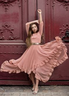 *NEW* Abrielle Dress in Misty Rose – Joyfolie Casual Day Dresses, Dress Outfits, Girl Outfits, Fashion Dresses, Summer Dresses, Trendy Dresses, Green Flower Girl Dresses, Little Girl Dresses, Girls Dresses