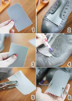 DIY shoe fringe   - 20 DIY Makeover Sneakers Ideas