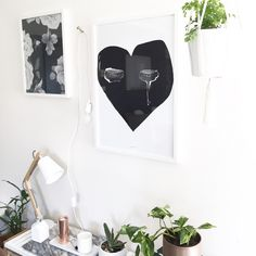 Scandinavian inspired interior styling and prints by Yorkelee. A3 Rose print by Yorkelee, Crying Heart by Pax and Hart. @yorkelee_prints