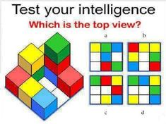 Test your intelligence: Which is the top view? Learning Through Play, Kids Learning, Texting Games To Play, Exit Games, Math Talk, Math Workbook, Math Challenge, Montessori Math, Numbers Preschool