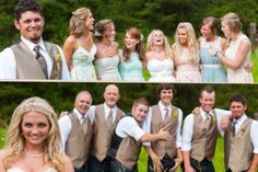 Wedding party picture idea cute and fun