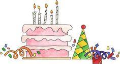 dibujos de tartas de cumpleaños-Imagenes y dibujos para imprimir
