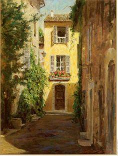 ۩۩ Painting the Town ۩۩ city, town, village & house art - Leonard Wren