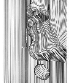 Line Art By Nester Formentera. Nester Formentera (known as Aartfinesse) was born in the Philippines but is based in Dublin, Ireland. For more details view website Arte Linear, Linear Art, Abstract Pencil Drawings, Abstract Line Art, Line Doodles, Illusion Art, Pen Art, Elements Of Art, Art Sketchbook