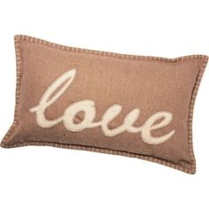 Home of Style Love Cushion - Natural - 30 x 50cm at Homebase -- Be inspired and make your house a home. Buy now.