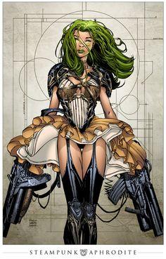 SteamPunk Aphrodite IX, por Davis Finch # SeanE.