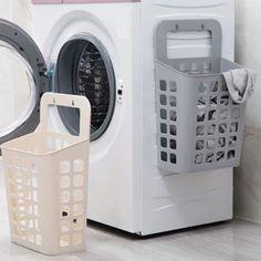 Laundry Basket Organization, Laundry Room Organization, Laundry Room Design, Laundry In Bathroom, Bathroom Storage, Toiletry Organization, Organizing, Laundry Organizer, Dresser Drawer Organization