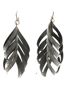 upcycled e. floyd earrings. Made from bike tire inner tubes. bresale.com