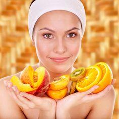 Gesichtsmaske mit Fruchtsäure