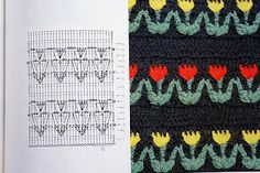 Crochet Stitch Tulip - Chart