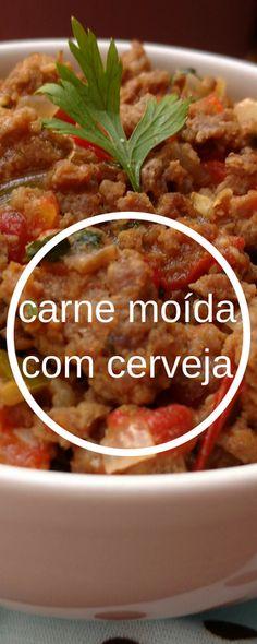 Aprenda a preparar essa deliciosa carne moída cozida com cerveja pilsen. fácil e rápida. #receitacomcarnemoída #comidacaseira