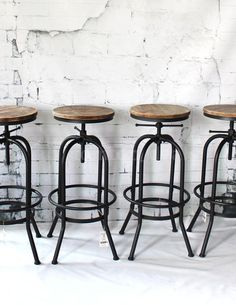 Also, you're going to ensure that the design of furnishings you choose matches with the theme of your restaurant. You do not want green tables and yel... Bar Stool Seats, Swivel Bar Stools, Bar Chairs, Side Chairs, Dining Chairs, Industrial Bar Stools, Metal Bar Stools, Industrial Style, Industrial Coffee Shop