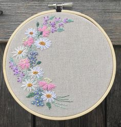 Vintage Embroidery Designs Custom Embroidery Hoop Art / Custom Name / Personalised Gift / Floral Hoop Art / Hand Embroidery / C - Name Embroidery, Hand Embroidery Flowers, Hand Embroidery Stitches, Embroidery Hoop Art, Hand Embroidery Designs, Vintage Embroidery, Custom Embroidery, Embroidery Techniques, Floral Embroidery