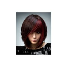 Black and Red Hair found on Polyvore