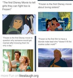 People need to seriously brush up on their Disney. Plus brave is tech the first Disney/Pixar movie to say you don't need a man to save the day!!