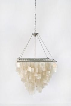 i'd love to find the perfect capiz shell chandelier