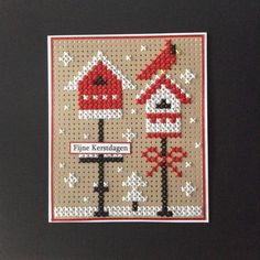 Cross Stitch Cards, Cross Stitching, Crafts For Kids, Arts And Crafts, Marianne Design, Cat Pattern, Christmas Cross, Origami Paper, Cross Stitch Patterns