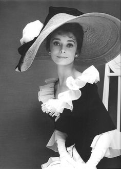 Cecil Beaton: Audrey Hepburn wearing a costume he designed for My Fair Lady (1964).