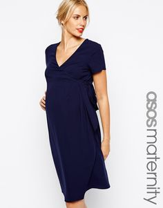 ASOS Maternity Pencil Dress With Waterfall Detail
