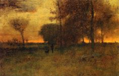 The Athenaeum - Sunset Glow (George Inness - 1883)