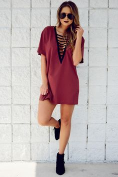 PREORDER: Miss Me Baby Tunic: Maroon/Black #kelseyxhopes #shophopes #preorder